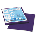 PACON CORPORATION PAC103019 Tru-Ray Construction Paper, 76 Lbs., 9 X 12, Purple, 50 Sheets/pack