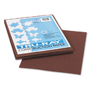 PACON CORPORATION PAC103024 Tru-Ray Construction Paper, 76 Lbs., 9 X 12, Dark Brown, 50 Sheets/pack