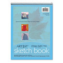 PACON CORPORATION PAC103207 Artist's Sketch Book, Unruled, 80lb, 9 X 12, White, 30 Sheets