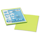 PACON CORPORATION PAC103423 Tru-Ray Construction Paper, 76 Lbs., 9 X 12, Brilliant Lime, 50 Sheets/pack