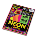 PACON CORPORATION PAC104331 Array Colored Bond Paper, 24lb, 8-1/2 X 11, Assorted Neon, 100 Sheets/pack