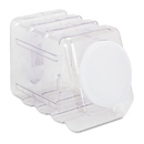 PACON CORPORATION PAC27660 Interlocking Storage Container With Lid, Clear Plastic