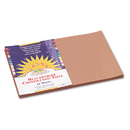 PACON CORPORATION PAC6907 Construction Paper, 58 Lbs., 12 X 18, Light Brown, 50 Sheets/pack