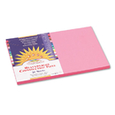 PACON CORPORATION PAC7007 Construction Paper, 58 Lbs., 12 X 18, Pink, 50 Sheets/pack