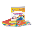 PACON CORPORATION PAC72230 Origami Paper, 30 Lbs., 9-3/4 X 9-3/4, Assorted Bright Colors, 55 Sheets/pack