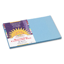 PACON CORPORATION PAC7607 Construction Paper, 58 Lbs., 12 X 18, Sky Blue, 50 Sheets/pack