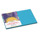 PACON CORPORATION PAC7707 Construction Paper, 58 Lbs., 12 X 18, Turquoise, 50 Sheets/pack