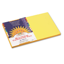 PACON CORPORATION PAC8407 Construction Paper, 58 Lbs., 12 X 18, Yellow, 50 Sheets/pack