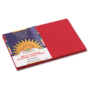 PACON CORPORATION PAC9907 Construction Paper, 58 Lbs., 12 X 18, Holiday Red, 50 Sheets/pack