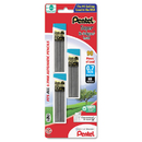 PENTEL OF AMERICA PENC27BPHB3K6 Super Hi-Polymer Lead Refills, 0.7mm, Hb, Black, 30/tube, 3 Tubes/pack