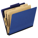 Pendaflex PFX1257BL Six-Section Colored Classification Folders, Letter, 2/5 Tab, Blue, 10/box
