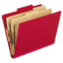 Pendaflex PFX1257SC Six-Section Colored Classification Folders, Letter, 2/5 Tab, Scarlet, 10/box