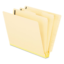 Pendaflex PFX13175 Manila End Tab Classification Folders, 2 Dividers/six-Section, Letter, 10/box
