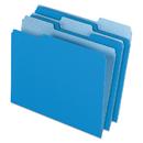 Pendaflex PFX15213BLU Colored File Folders, 1/3 Cut Top Tab, Letter, Blue/light Blue, 100/box