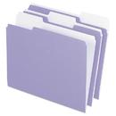Pendaflex PFX15213LAV Colored File Folders, 1/3 Cut Top Tab, Letter, Lavender/light Lavender, 100/box