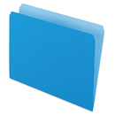Pendaflex PFX152BLU Colored File Folders, Straight Cut, Top Tab, Letter, Blue/light Blue, 100/box