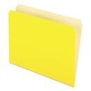Pendaflex PFX152YEL Colored File Folders, Straight Top Tab, Letter, Yellow/light Yellow, 100/box