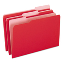 Pendaflex PFX15313RED Colored File Folders, 1/3 Cut Top Tab, Legal, Red/light Red, 100/box