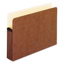 Pendaflex PFX1534GOX Standard Expanding File Pockets, Manila, Straight Cut, 1 Pocket, Letter, Redrope