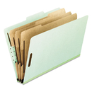 Pendaflex PFX17174 Eight-Section Pressboard Folders, Letter, 2/5 Tab, Green, 10/box