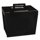 Pendaflex PFX20861 Portable File Storage Box, Letter, Plastic, 13 1/2 X 10 1/4 X 10 7/8, Black
