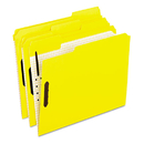 Pendaflex PFX21309 Colored Folders With Embossed Fasteners, 1/3 Cut, Letter, Yellow, 50/box