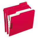 Pendaflex PFX21319 Colored Folders With Embossed Fasteners, 1/3 Cut, Letter, Red/grid Interior