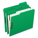 Pendaflex PFX21329 Colored Folders With Embossed Fasteners, 1/3 Cut, Letter, Green/grid Interior