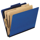 Pendaflex PFX2257BL Six-Section Colored Classification Folders, Legal, 2/5 Tab, Blue, 10/box