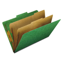 Pendaflex PFX2257GR Six-Section Colored Classification Folders, Legal, 2/5 Tab, Green, 10/box