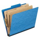 Pendaflex PFX2257LB Six-Section Colored Classification Folders, Legal, 2/5 Tab, Light Blue, 10/box