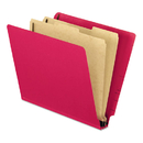 Pendaflex PFX23216 Pressboard End Tab Classification Folders, Letter, 2 Dividers, Red, 10/box