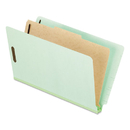 Pendaflex PFX23314 Pressboard End Tab Classification Folders, Legal, 1 Divider, Pale Green, 10/box