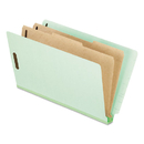 Pendaflex PFX23324 Pressboard End Tab Folders, Legal, 2 Dividers/6 Section, Pale Green, 10/box