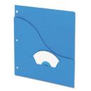 Pendaflex PFX32902 Essentials Slash Pocket Project Folders, 3 Holes, Letter, Blue, 25/pack