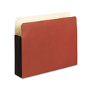Pendaflex PFX35344 Watershed 5 1/4 Inch Expansion File Pockets, Straight Cut, Letter, Redrope