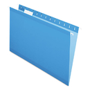Pendaflex PFX415315BLU Reinforced Hanging Folders, 1/5 Tab, Legal, Blue, 25/box