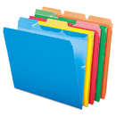 Pendaflex PFX42338 Ready-Tab File Folders, 1/3 Cut Top Tab, Letter, Assorted Colors, 50/pack
