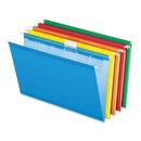Pendaflex PFX42593 Colored Reinforced Hanging Folders, 1/6 Tab, Legal, Asst, 25/box