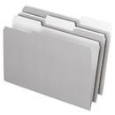 Pendaflex PFX435013GRA Interior File Folders, 1/3 Cut Top Tab, Legal, Gray, 100/box