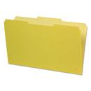 Pendaflex PFX435013YEL Interior File Folders, 1/3 Cut Top Tab, Legal, Yellow, 100/box