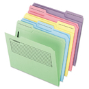 Pendaflex PFX45270 Printed Notes Folders With Fastener, 1/3 Cut Top Tab, Letter, Assorted, 30/pack