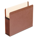 Pendaflex PFX45302 Premium Reinforced Expanding File Pockets, Straight Cut, 1 Pocket, Letter, Brown