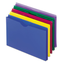Pendaflex PFX50993 Expanding File Jackets, Legal, Poly, Blue/green/purple/red/yellow, 5/pack