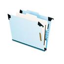 Pendaflex PFX59251 Pressboard Hanging Classi-Folder, 1 Divider/4-Sections, Letter, 2/5 Tab, Blue
