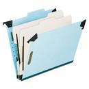Pendaflex PFX59252 Pressboard Hanging Classi-Folder, 2 Divider/6-Sections, Letter, 2/5 Tab, Blue