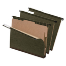 Pendaflex PFX59253 Surehook Reinforced Hanging Folder, 1 Divider, Letter, 1/5 Tab, Green, 10/box