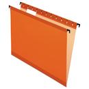 Pendaflex PFX615215ORA Poly Laminate Hanging Folders, Letter, 1/5 Tab, Orange, 20/box