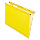 Pendaflex PFX615215YEL Poly Laminate Hanging Folders, Letter, 1/5 Tab, Yellow, 20/box