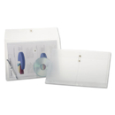 Pendaflex PFX638143 Expandable Poly String & Button Booklet Envelope, Clear, Legal, 3/pack